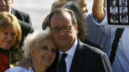 Hollande homenajeó a las víctimas de la dictadura en el Parque de la Memoria