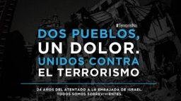 Conmemoración por el 24° aniversario del atentado a la Embajada de Israel.