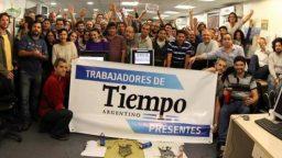 """Randy Stagnaro: """"La decisión de la empresa de no imprimir Tiempo Argentino apunta a que nos rindamos"""""""