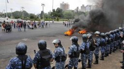 Represión en la Municipalidad de La Plata